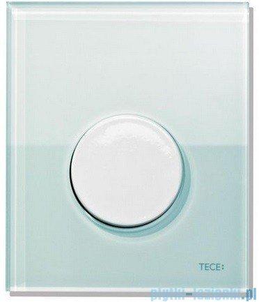 Tece Przycisk spłukujący ze szkła do pisuaru Teceloop szkło zielone, przycisk biały 9.242.651