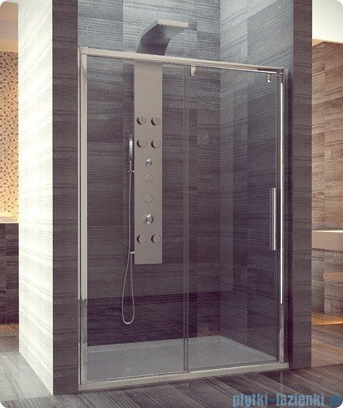 SanSwiss Pur Light S PLS2 Drzwi rozsuwane 150cm profil biały szkło przejrzyste Lewe PLS2G1500407