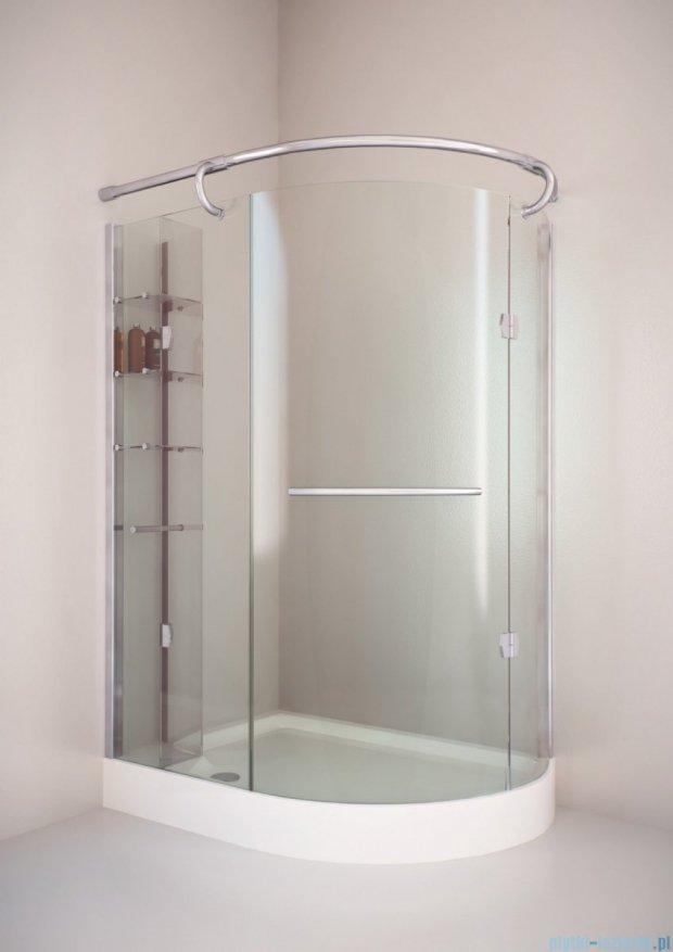 Sea Horse Sigma kabina Klio lewa 120x85cm przejrzyste BK261TL+brodzik prysznicowy BKB261L