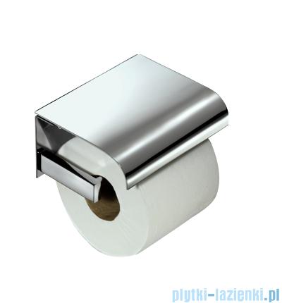 Omnires Urban uchwyt na papier toaletowy z klapką chrom 49.40.02.002