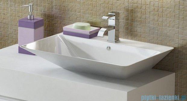 Antado Combi szafka z blatem prawym i umywalką Libra biały/jasne drewno ALT-140/45GT-WS/dn+ALT-B/3R-1000x450x150-WS+UCS-TC-66
