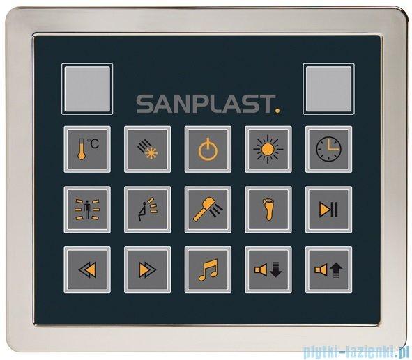 Sanplast Space Line kabina parowo-hydromasażowa KN/SPACE LINE-HP prawa 100x100x220 cm 630-100-0440-39-401