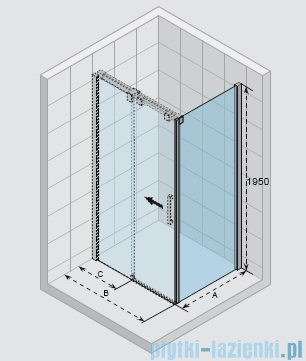 Riho Ocean ścianka boczna prawa 90x195cm GU0302102