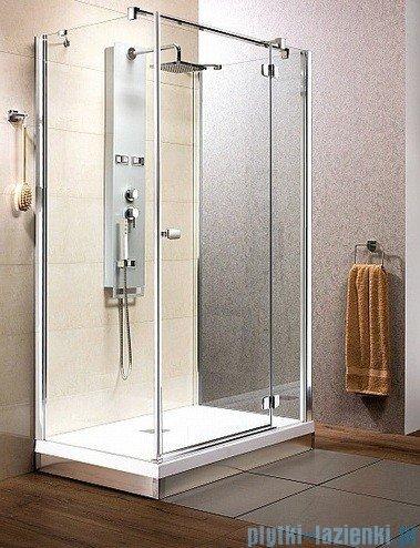Radaway Kabina prysznicowa Fuenta KDJ+S 80x120x80 prawa szkło przejrzyste + Brodzik Argos D + syfon 381032-01R1 / 381032-01R2