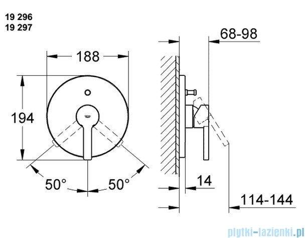 Grohe Lineare jednouchwytowa bateria prysznicowa 19296000