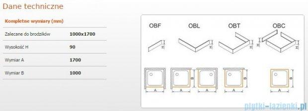 Sanplast Obudowa brodzika OBL 100x170x9 cm 625-400-1700-01-000