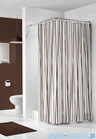 Sealskin Kabana brąz zasłona prysznicowa tekstylna 180x200cm 233081374
