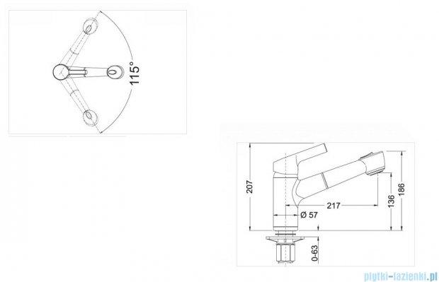 Blanco Elipso-s II  bateria wysokociśnieniowa kolor: jaśmin 514856