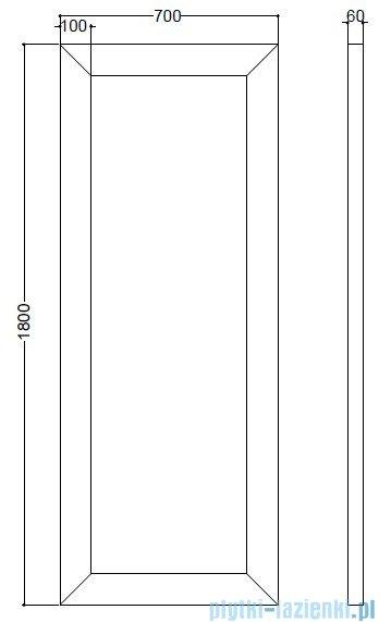 Kerasan Retro Lustro z ramą koloru czarnego 70x180 cm 7366