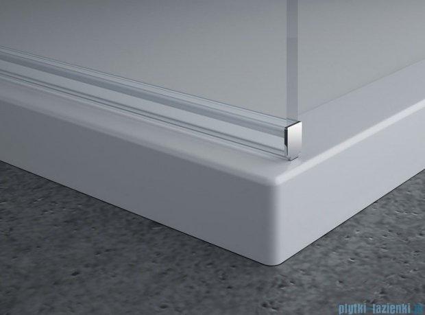 SanSwiss Pur PDT4P Ścianka wolnostojąca 80cm profil chrom szkło Pas satynowy PDT4P0801051