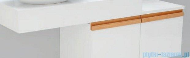 Antado Combi szafka prawa z blatem lewym i umywalką Conti biały/jasne drewno ALT-141/45-R-WS/dn+ALT-B/4-1000x450x150-WS+UCT-TP-37x59