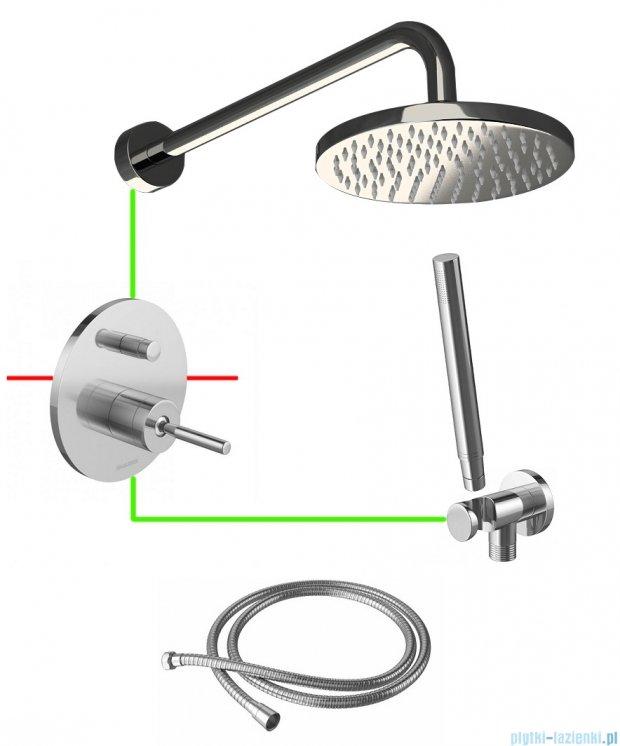 Kohlman Maxima podtynkowy zestaw prysznicowy MLE01