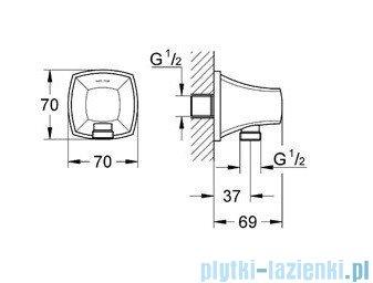 Grohe Grandera kolanko przyłączeniowe ścienne DN15 chrom/złoty 27970IG0