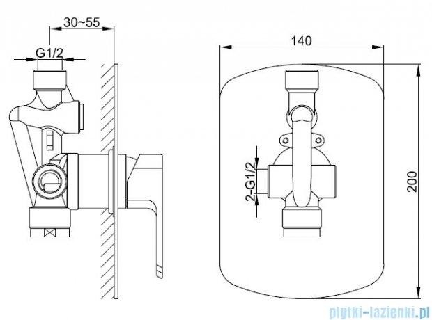 Kohlman Foxal zestaw prysznicowy chrom QW220FR35