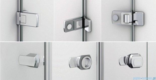 Sanswiss Melia ME31 Drzwi ze ścianką w linii lewe z uchwytami i profilem 140-200cm przejrzyste ME31AGSM21007