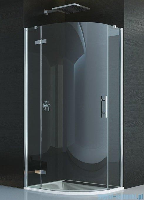 SanSwiss Pur P3P Kabina półokrągła 75-120cm profil chrom szkło przezroczyste Lewa P3PG55SM11007