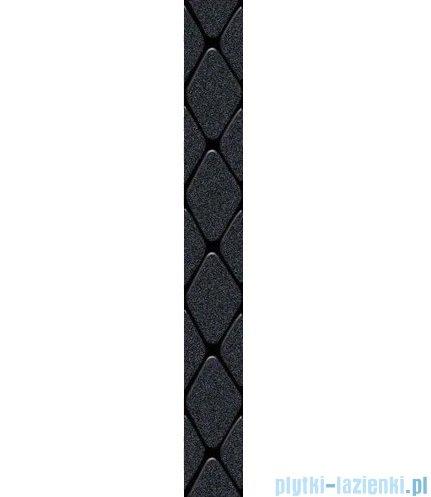 Paradyż Secret nero poduszki listwa ścienna 7x59,5