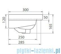 Cerastyle Noura umywalka 60x30cm meblowa / ścienna 033000-u