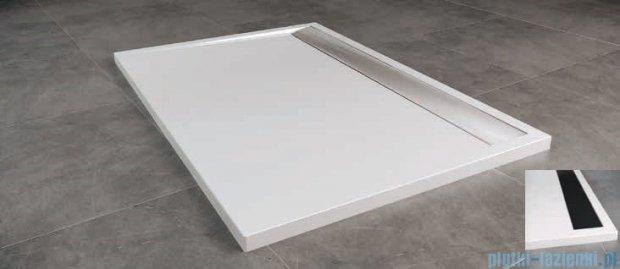 SanSwiss WIA Brodzik konglomeratowy prostokątny 80x100cm biały/czarny WIA801000604