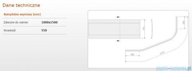 Sanplast AS obudowa do wanny asymetrycznej 100x150cm biała 620-130-0310-01-000
