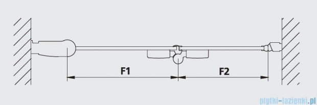 Kermi Diga Drzwi wahadłowo-składane do ściany bocznej, lewe, szkło przezroczyste, profile srebrne 100x200 DI2SL10020VAK