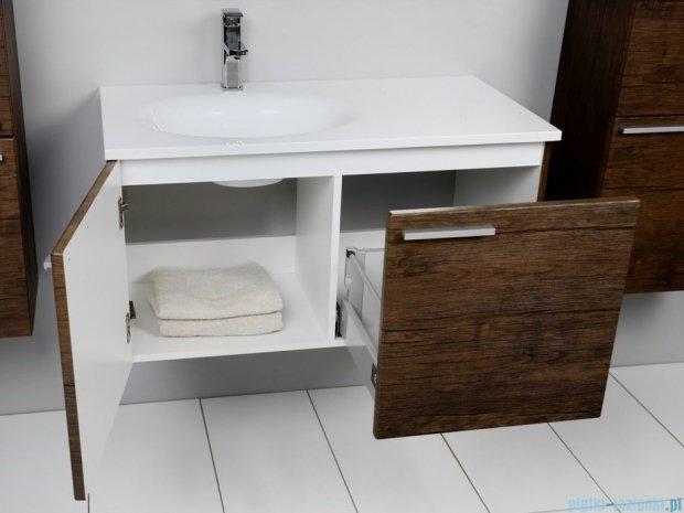 Antado Sycylia szafka z umywalką lewa 90x48x45 stare drewno KTS-140/2-50L + UMMO-900-03L