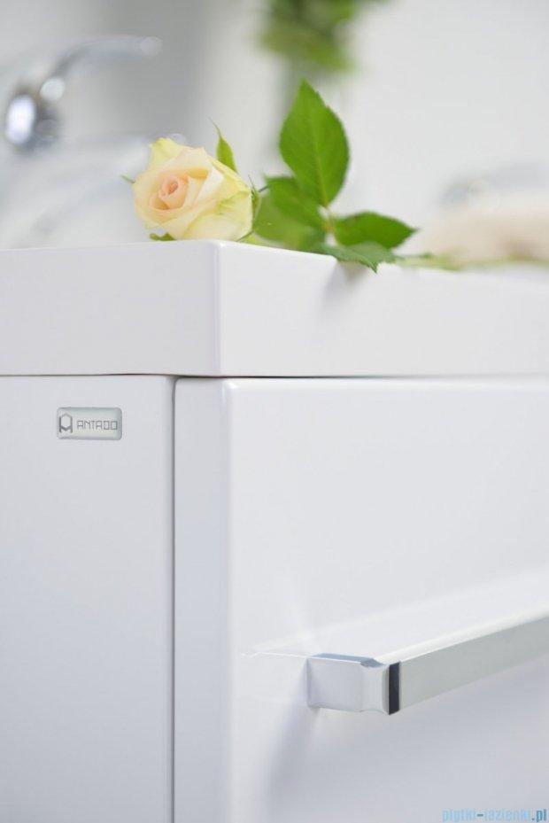 Antado Variete szafka z umywalką, wisząca z dwiema szufladami 60x39x40 biały połysk FM-C-442/6/2GT + UMMC-600X390