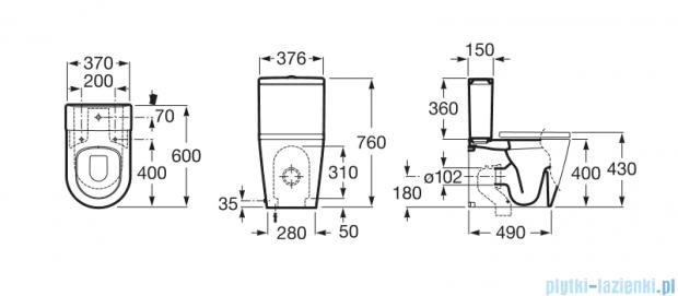 Roca Inspira Round Compacto miska do kompaktu wc o/podwójny A342528000