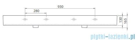 Cerastyle Pinto umywalka 151x46,5cm meblowa / ścienna 080900-u
