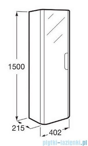 Roca Dama-n Kolumna z 4 półkami 150 cm biały połysk A856956806