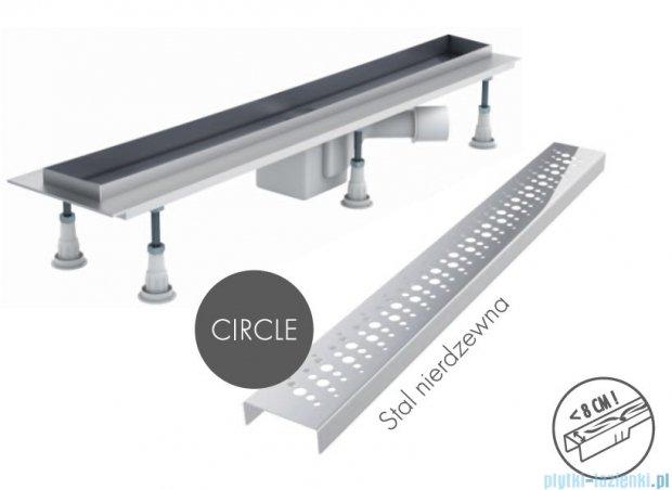 Schedpol odpływ liniowy z maskownicą Circle 90x8x9,5cm OLCE90/ST