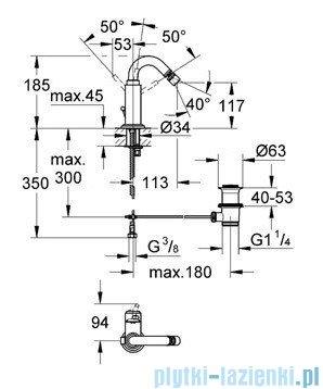 Grohe Atrio jednouchwytowa bateria bidetowa DN 15 chrom 32108001