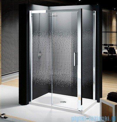 Novellini Elysium Kuadra 2P Drzwi przesuwne 120cm Lewe szkło przejrzyste profil chrom KUAD2P120S-1K