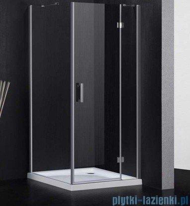 Omnires Manhattan kabina kwadratowa 3M™ Easy Clean 90x90x195cm szkło przejrzyste ADC90XLUX-T