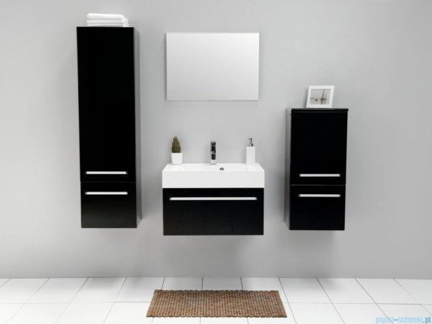 Antado Variete szafka z umywalką, wisząca 70x50x33 czarny połysk FM-442/7-9017 + UNA-700