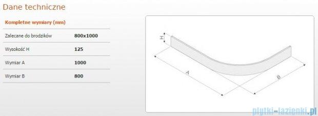 Sanplast Obudowa brodzika OBP 80x100x12,5 cm 625-401-0730-01-000