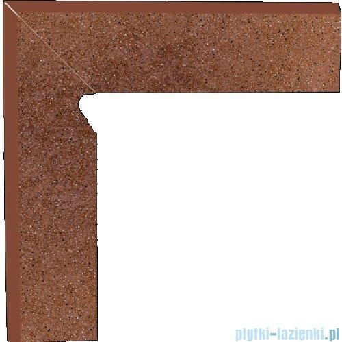 Paradyż Taurus brown klinkier cokół schodowy lewy 30x30