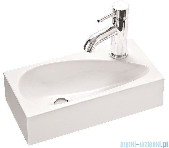Marmorin umywalka nablatowa Elara 1 bez otworu 40cm biała 390040020010