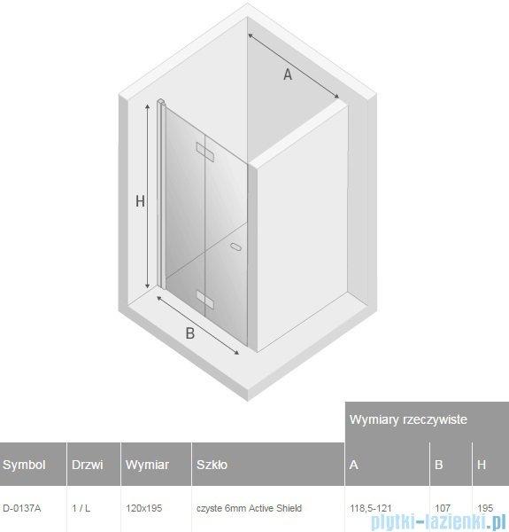 New Trendy New Soleo drzwi wnękowe bifold 120x195 cm przejrzyste lewe D-0137A