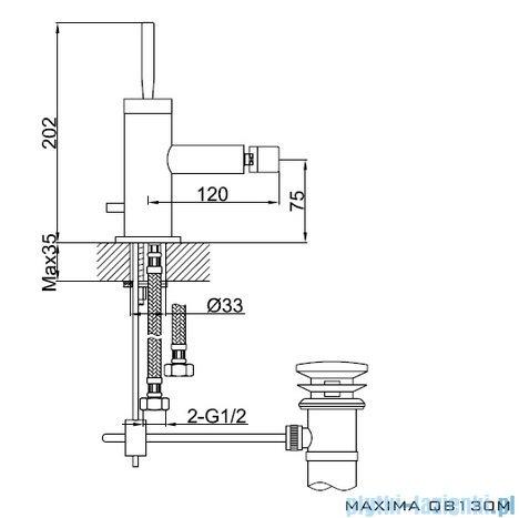 Kohlman Maxima Bateria bidetowa QB130M