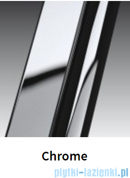 Novellini Drzwi prysznicowe harmonijkowe LUNES S 90 cm szkło przejrzyste profil chrom LUNESS90-1K