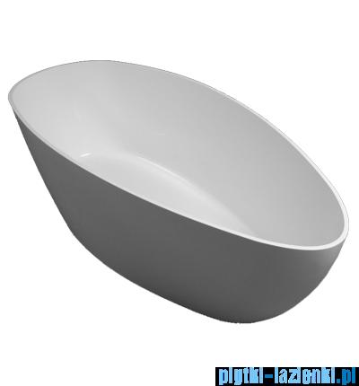 Omnires Barcelona wanna 156x71cm wolnostojąca biały mat MarbleBarcelona156BM