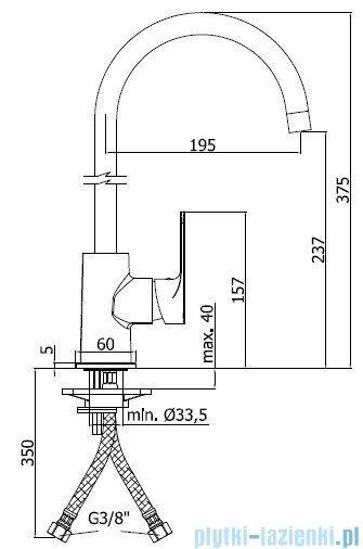 Paffoni  Bateria kuchenna wysoka SLY chrom SY181CR
