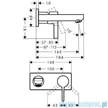 Hansgrohe Metris S Jednouchwytowa bateria umywalkowa DN15 31162000