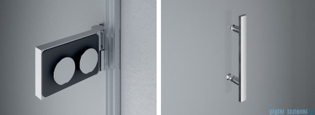 SanSwiss Pur PU31 Kabina prysznicowa 100x90cm prawa szkło przejrzyste PU31PD1001007/PUDT3P0901007
