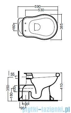 Kerasan Retro miska WC stojąca odpływ poziomy 1011