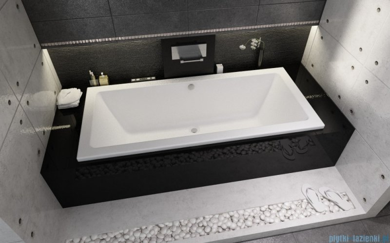 riho lusso wanna prostok tna 170x75cm bia a ba18 plytki lazienki. Black Bedroom Furniture Sets. Home Design Ideas