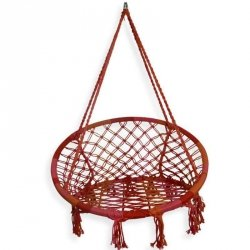 Fotel wiszący Boho - czerwony