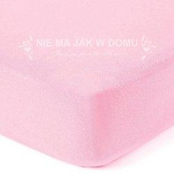 Prześcieradło jersey z gumką - różowe pastelowe