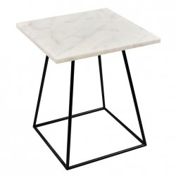 Stolik marmurowy Belldeco Bristol - biały